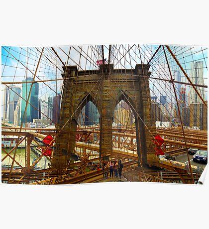 New York. Brooklyn Bridge Poster
