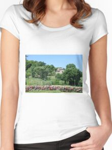 Remote farmhouse, Tuscany, Italy  Women's Fitted Scoop T-Shirt