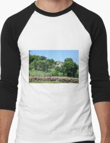 Remote farmhouse, Tuscany, Italy  Men's Baseball ¾ T-Shirt