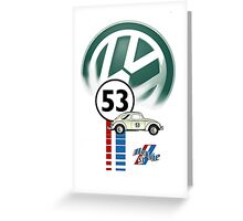 53 THE LOVE BUG CAR VW beatle Greeting Card