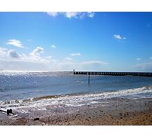 The Sun; She Shines 'Pon Lowestoft! Photographic Print