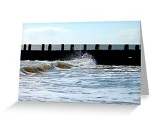 Water Above The Wave! Greeting Card