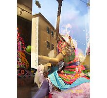 Holala Plaza Window Display with Reflection Photographic Print