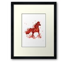 Spring fire ( horse and flowers ) Framed Print