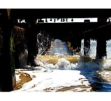 Waves In The Groyne! Photographic Print