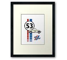 Herbie 53 VW bug beetle Framed Print