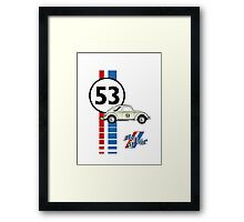 53 VW bug beetle bug Framed Print