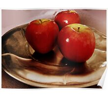 Still life with red apples Poster