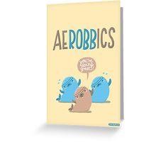 Aerobbics - Sporty Seals Greeting Card