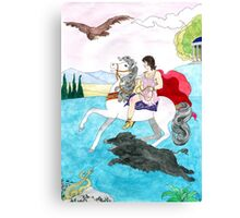 Antinous' boar hunt Canvas Print