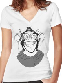 Hear No Evil Women's Fitted V-Neck T-Shirt