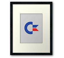 Commodore C64 Retro Classic Symbol Framed Print