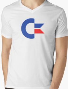 Commodore C64 Retro Classic Symbol Mens V-Neck T-Shirt