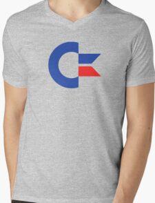 Commodore C64 Retro Classic Symbol Mens V-Neck T-Shirt