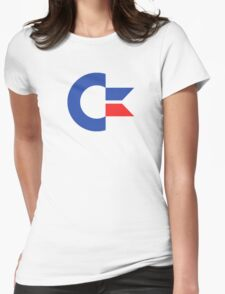 Commodore C64 Retro Classic Symbol Womens Fitted T-Shirt