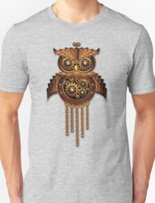 Steampunk Owl Vintage Style T-Shirt