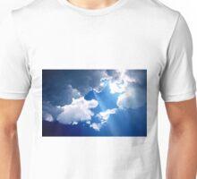 blue sky on the beach Unisex T-Shirt