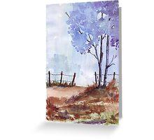 Seasonal Winter blues Greeting Card