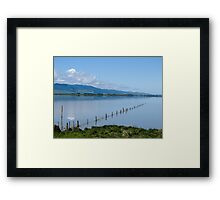 fence in the lake Framed Print