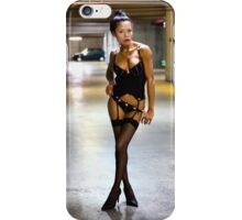 Paris Model Catchy Cat iPhone Case/Skin