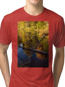 Fall Mirror - Mesmerizing Forest Lake Reflections Tri-blend T-Shirt