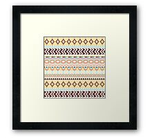 Summer Ethno Yellow Framed Print