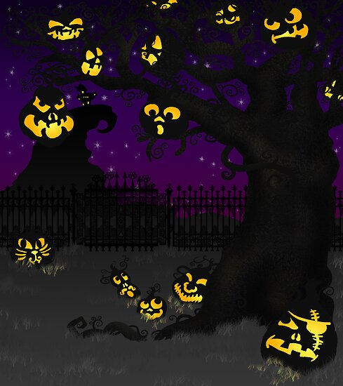 Jack O Lantern Tree by thedustyphoenix