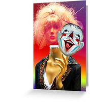 FASHIONISTA AND THE DEATH OF REAL WOMEN Greeting Card