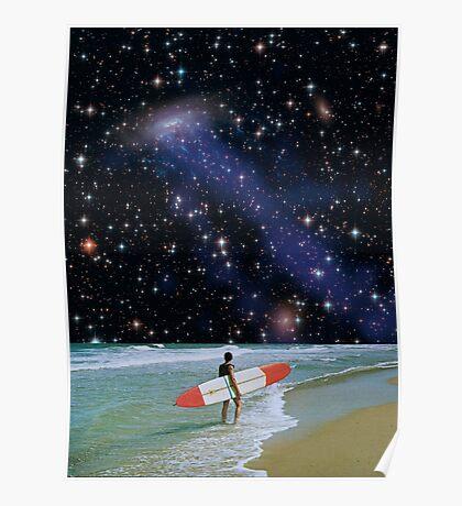 Surfer on Horizon Poster