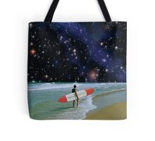 Surfer on Horizon Tote Bag
