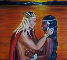 Vikings Discover America - Detail by Yesi Casanova