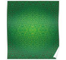 Etnic Pattern Green Poster