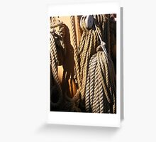Ropes and knots on Tall Ship Greeting Card