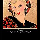 'Evita' Titled Greeting Card or Small Print by luvapples downunder/ Norval Arbogast