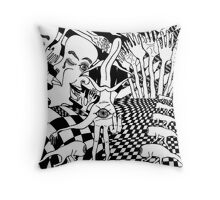 inner dimension Throw Pillow