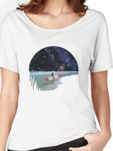 Surfer on Horizon Women's Relaxed Fit T-Shirt