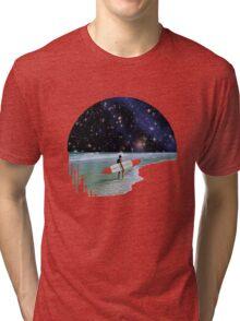 Surfer on Horizon Tri-blend T-Shirt