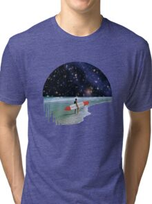 Surfer on Horizon Tri-blend T-Shirt