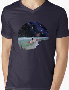 Surfer on Horizon Mens V-Neck T-Shirt