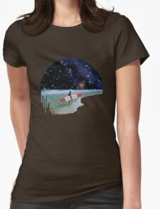 Surfer on Horizon Womens Fitted T-Shirt