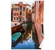 Impressions of Venice - Wandering Around the Small Canals Poster
