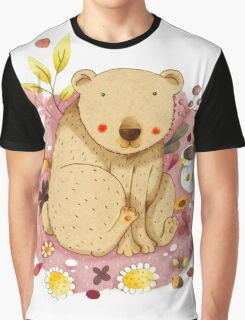 Bear with Honey-Pot Graphic T-Shirt