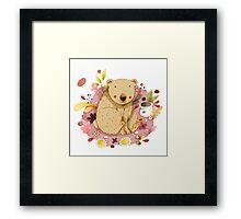 Bear with Honey-Pot Framed Print