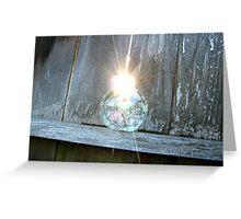 Orb Glint Greeting Card