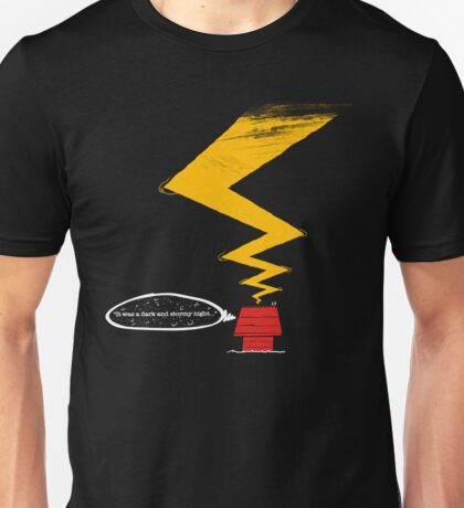 ...It wa a dark and stormy night.. Unisex T-Shirt