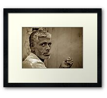 Intense Exhalation Framed Print