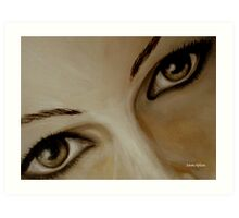 Look into my eyes Art Print