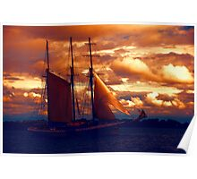 Tallship - Moody Blues and Powerful Oranges Poster