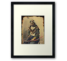 Chief Bone Necklace 1899 Framed Print