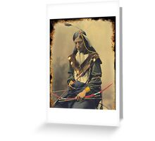 Chief Bone Necklace 1899 Greeting Card